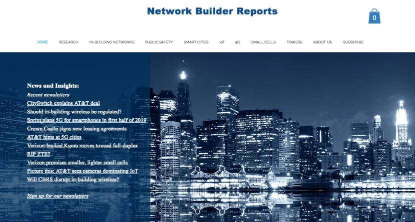 Network Builder Reports - SVP In-Building As A Service